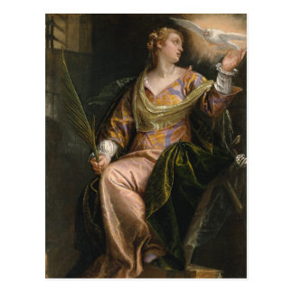 Saint Catherine of Alexandria in Prison - Veronese Postcard