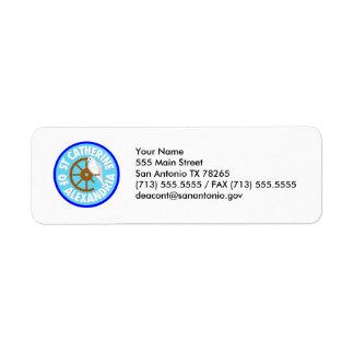 Saint Catherine of Alexandria Return Address Label