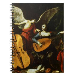 Saint Cecilia and the Angel by Carlo Saraceni Notebooks