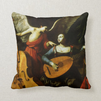 Saint Cecilia and the Angel by Carlo Saraceni Throw Pillow