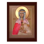 Saint Cecilia Prayer Card Postcard