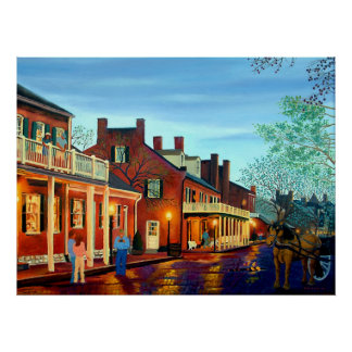 Saint Charles Cityscape II Landscape Oil Painting Poster