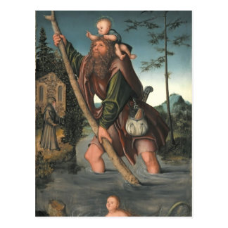 Saint Christopher by Hieronymus Bosch Postcard