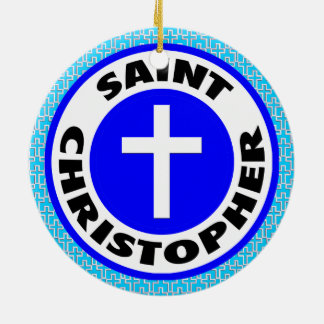 Saint Christopher Ceramic Ornament