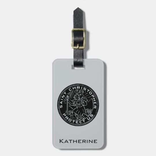 Saint Christopher Medal Bag Tag