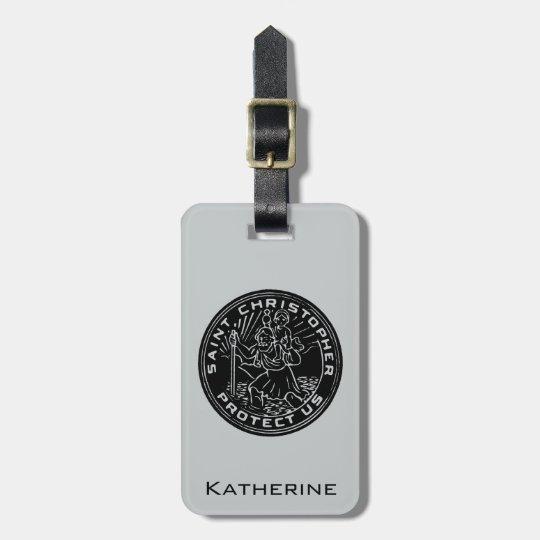 Saint Christopher Medal Luggage Tag