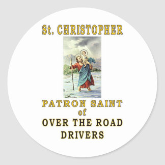 SAINT CHRISTOPHER ROUND STICKER