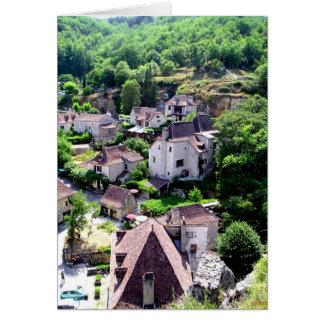 Saint-Cirq Lapopie Medieval Village Card