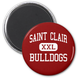 Saint Clair - Bulldogs - Senior - Saint Clair 2 Inch Round Magnet