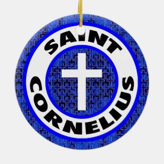Saint Cornelius Ceramic Ornament