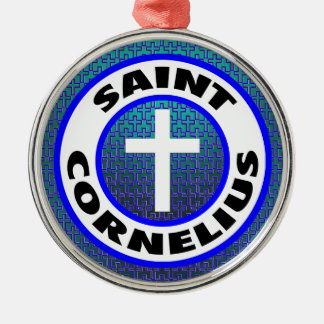 Saint Cornelius Metal Ornament