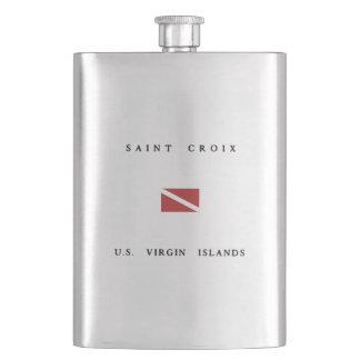 Saint Croix Scuba Dive Flag Hip Flask