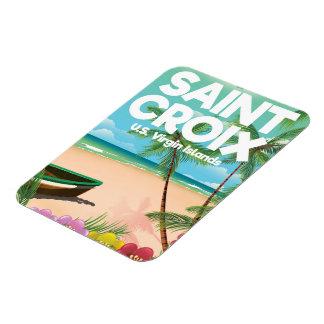 Saint Croix, U.S. Virgin Islands travel poster Magnet