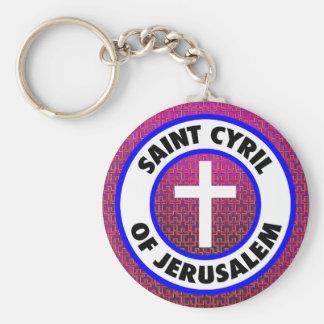 Saint Cyril of Jerusalem Basic Round Button Keychain