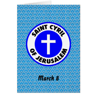 Saint Cyril of Jerusalem Card