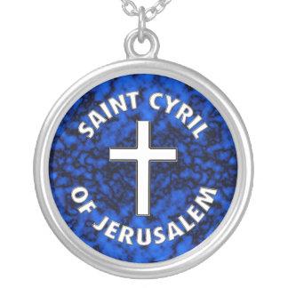 Saint Cyril of Jerusalem Silver Plated Necklace
