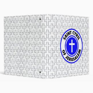 Saint Cyril of Jerusalem Vinyl Binder