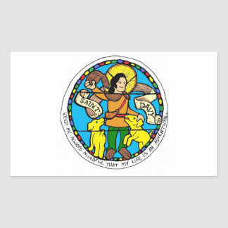 Saint Davy Rectangle Sticker