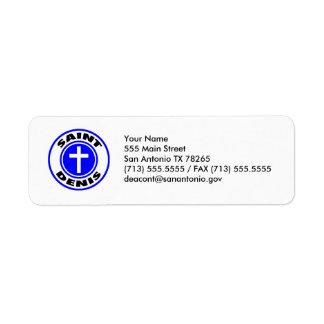 Saint Denis Return Address Label