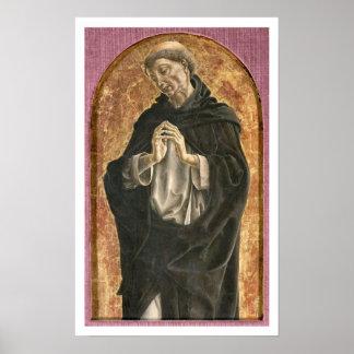 Saint Dominic (tempera on panel) Poster