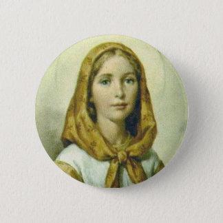 Saint Dymphna  2¼ Inch Round Button