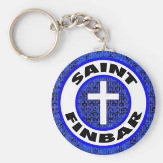 Saint Finbar Basic Round Button Keychain