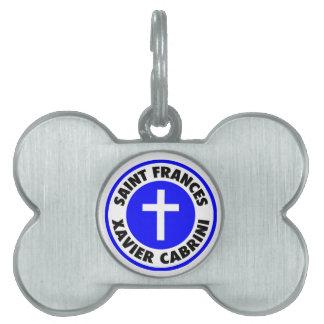 Saint Frances Xavier Cabrini Pet ID Tag