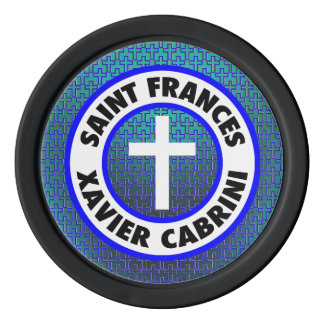 Saint Frances Xavier Cabrini Poker Chip Set