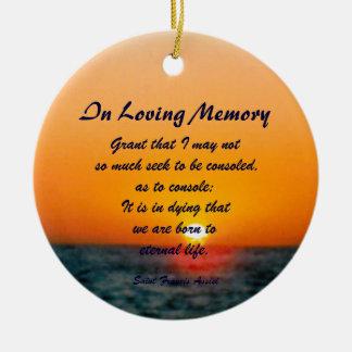 Saint Francis Assisi In Loving Memory Sky Ornament