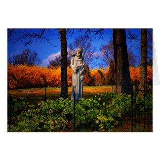 Saint Francis at the Old Lynchburg Cemetery Card