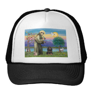 Saint Francis & Black-Tan Cocker Spaniel Trucker Hat