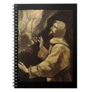 Saint Francis  Eyes Toward Heaven Notebooks