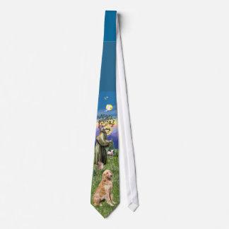 Saint Francis / Golden Retriever Tie