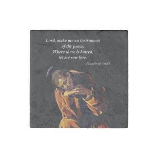 Saint Francis Instrument of Peace Stone Magnets