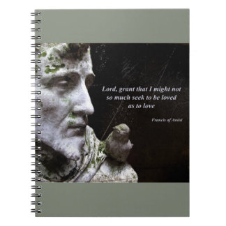 Saint Francis of Assisi and Bird Quote Notebooks