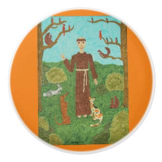 Saint Francis of Assisi Ceramic Knob