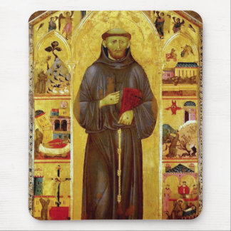 Saint Francis of Assisi Medieval Fine Art Icon Mouse Pad