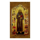 Saint Francis of Assisi Medieval Iconography Poster