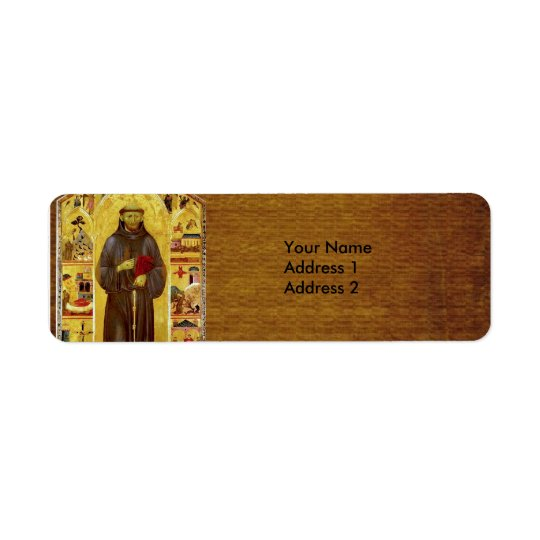 Saint Francis of Assisi Medieval Iconography Return Address Label