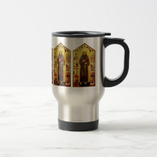 Saint Francis of Assisi Medieval Iconography Stainless Steel Travel Mug