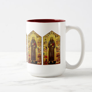 Saint Francis of Assisi Renaissance Two-Tone Coffee Mug