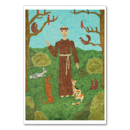 Saint Francis of Assisi Table Cards