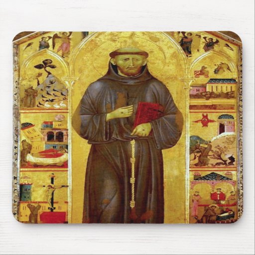 Saint Francis of Assissi Medieval Iconography Mousepad