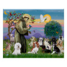 Saint Francis with 10 Dogs Poster