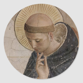 Saint Francis with Head Bowed Round Sticker