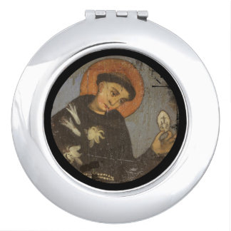 Saint  Francis with Lilies Compact Mirrors