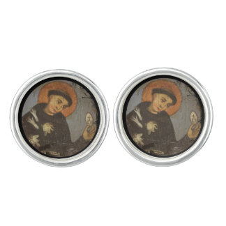 Saint  Francis with Lilies Cuff Links