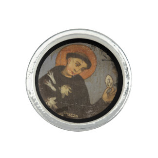 Saint  Francis with Lilies Photo Ring