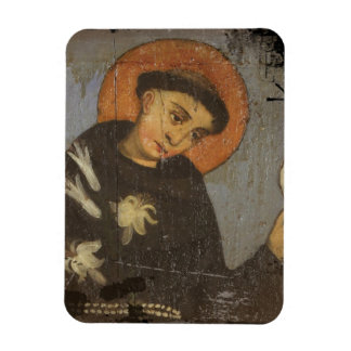 Saint  Francis with Lilies Rectangular Photo Magnet