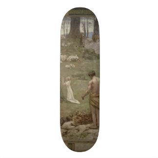 Saint Genevieve as Child in Prayer by Puvis Skateboard Decks